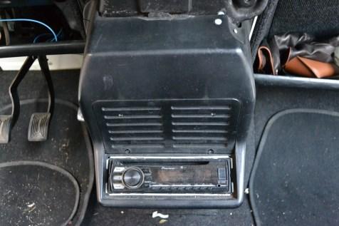 console et autoradio 4L