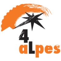 Logo 4aLpes : le rallye-raid dans les Alpes en Renault 4L