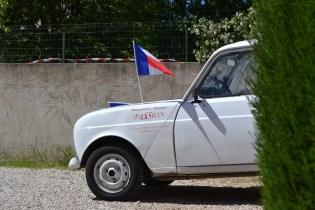 drapeau français cocorico 4L