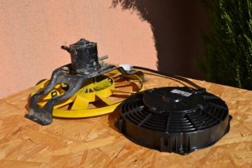 Différence entre un ventilateur d'origine et un SPAL...