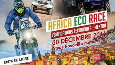 AFRICA ECO RACE 2017- MONACO - DAKAR PASSERA A MENTON !