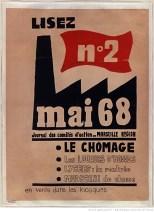 BRI SMP Affiche Marseille Chomage [Mai_1968]_Lisez_mai_68_[...]_btv1b9018391x