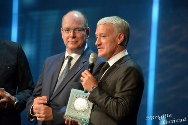 SPORTEL AWARDS 2018 A MONACO - PODIUMS D'OR - DIDIER DESCHAMPS RÉCOMPENSÉ