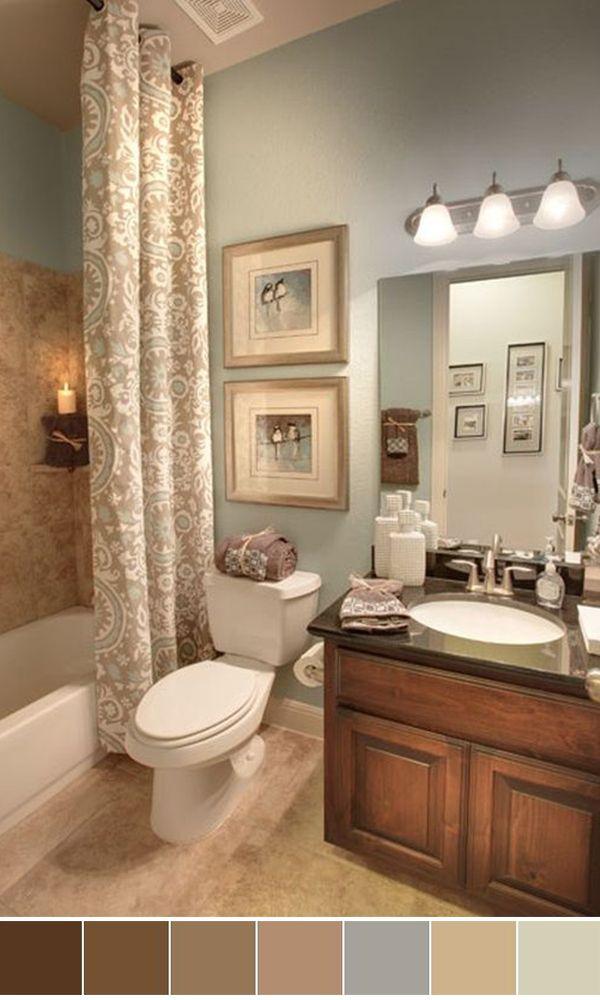 25 Beautiful Bathroom Color Scheme Ideas for Small & Master ...