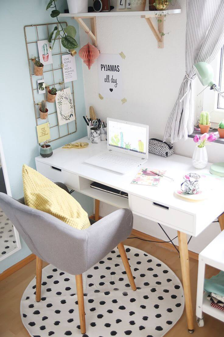 25+ Small Home Office Ideas For Men & Women (Space Saving ...