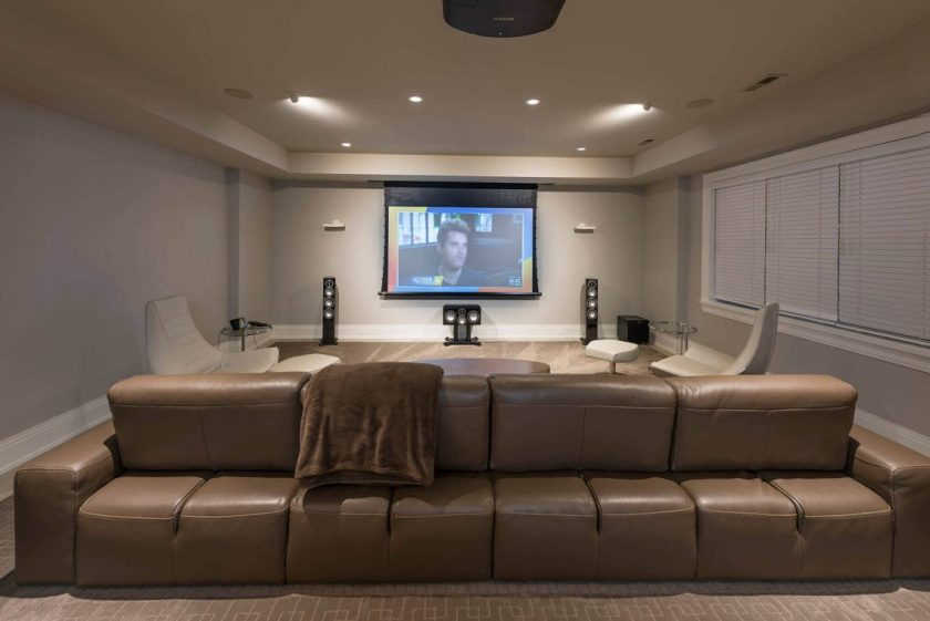 home theater ideas for basement
