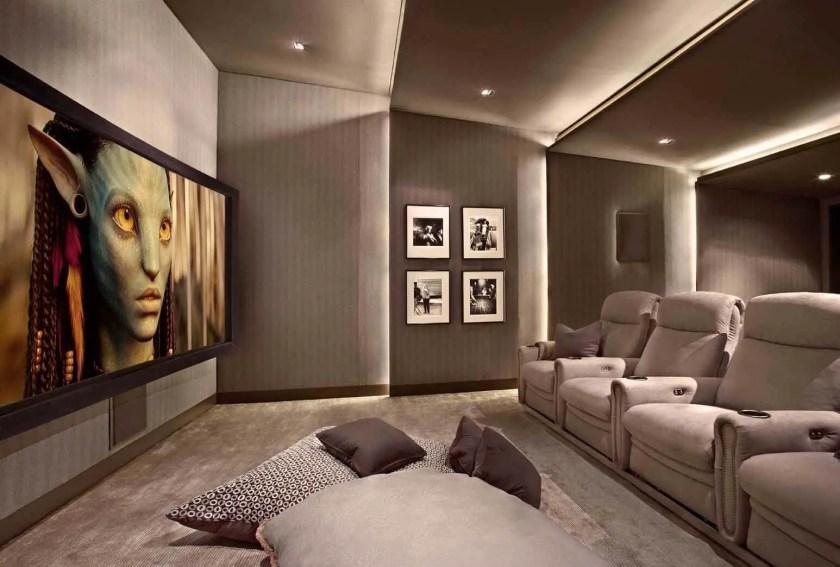 bedroom basement home theater