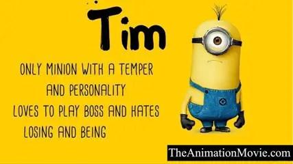 Minion Names - Tim Minion