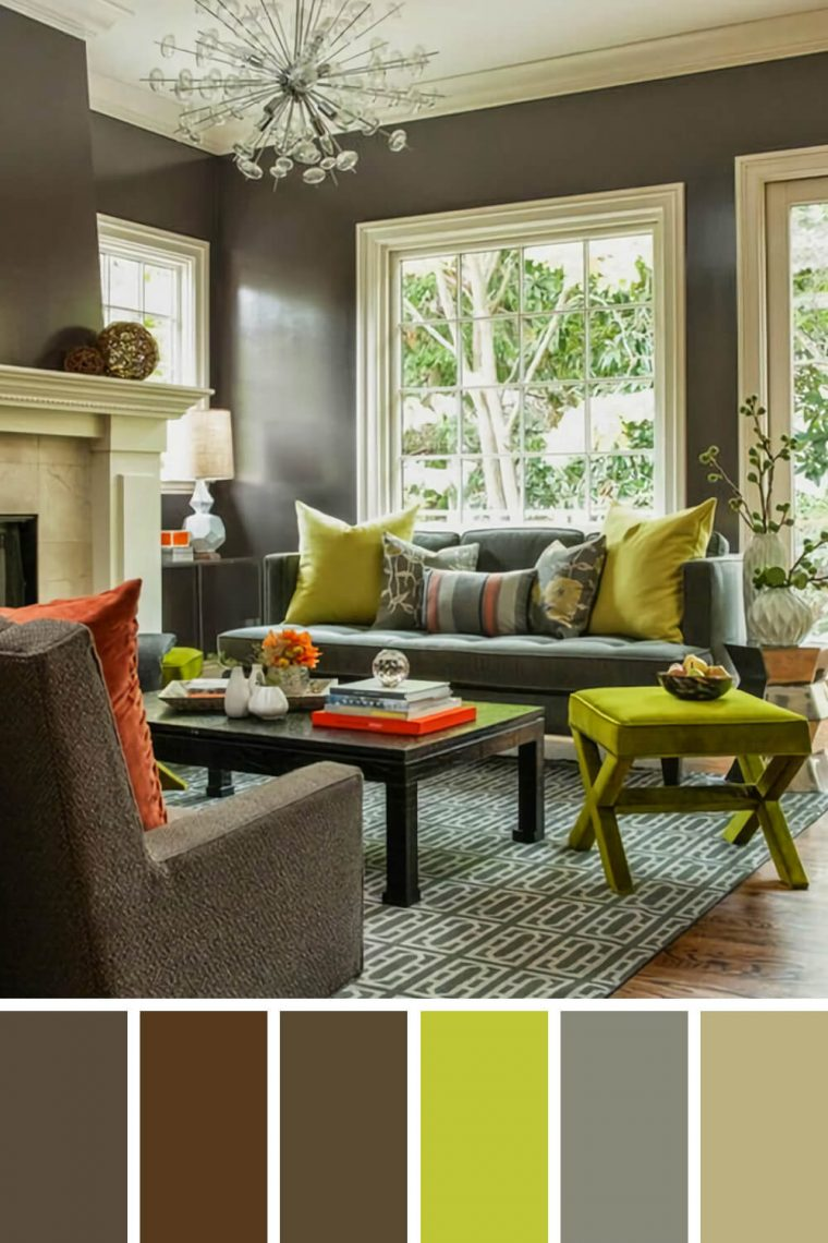 25 Gorgeous Living Room Color Schemes to Make Your Room Cozy on Colourful Living Room  id=86697