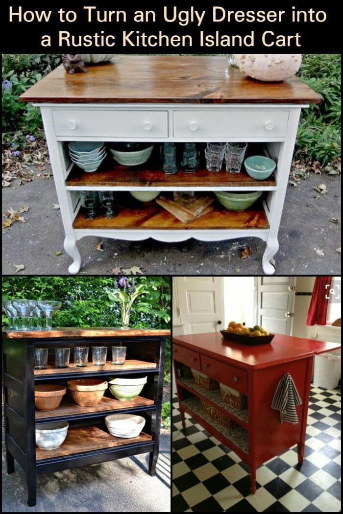 Upcycled Kitchen Island Ideas