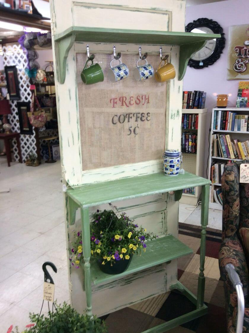 home coffee bar ideas repurposed