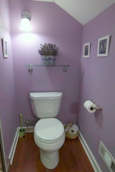 Lavender and White Bathroom color schemes