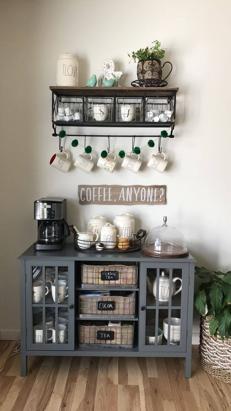 coffee bar ideas for the home