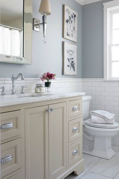 Cream and White Bathroom Color Ideas