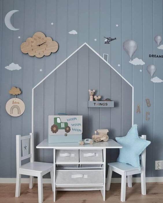 25 Kids Study Room Designs Decorating Ideas: 30+ Stylish & Chic Kids Room Decorating Ideas