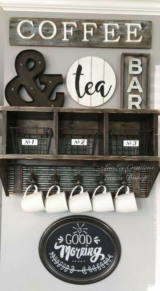 coffee bar storage ideas