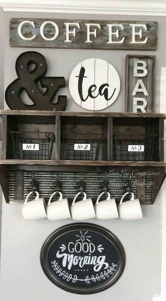 coffee bar storage ideas