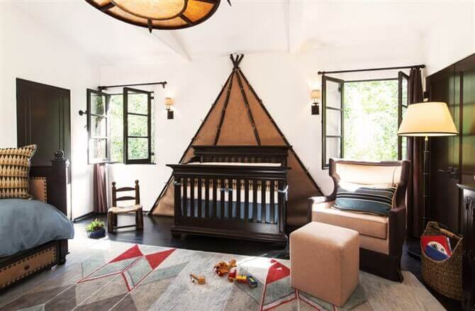 Unique baby boy nursery ideas blue and brown