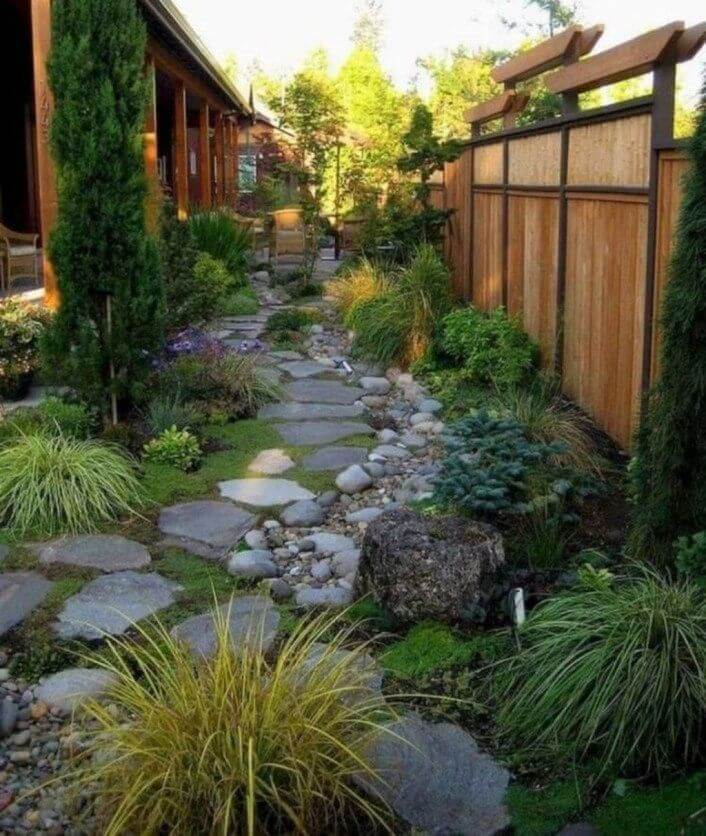 Aesthetic Pathway backyard