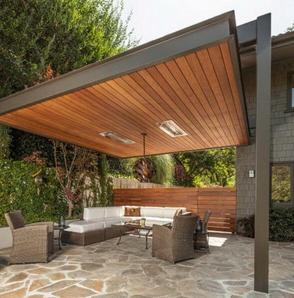 Staggering backyard patio ideas with hot tub