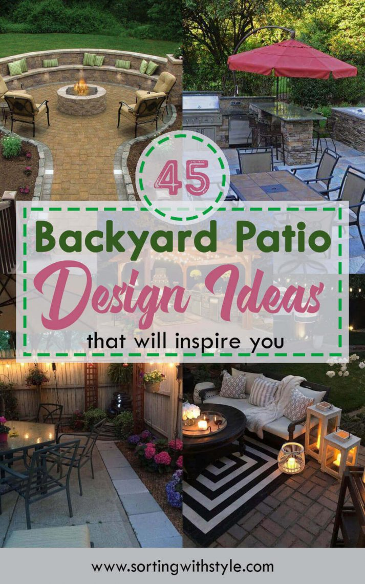 45 Backyard Patio Ideas That Will Amaze & Inspire You ... on concrete patio under deck ideas, small backyard planting ideas, small backyard swimming pool design, screen garden design ideas, small backyard paving ideas, small concrete patio with fire pit, small utility room design ideas, small outdoor seating area ideas, small backyard deck landscaping ideas, patio with fire pit ideas, small cement patios, small gas fireplace design ideas, small backyard water features ideas, backyard design patio pergola ideas, small backyard raised garden ideas, small landscaping design ideas, small backyards with hills, diy outdoor kitchen design ideas, small backyard low maintenance landscaping ideas, pool design ideas,