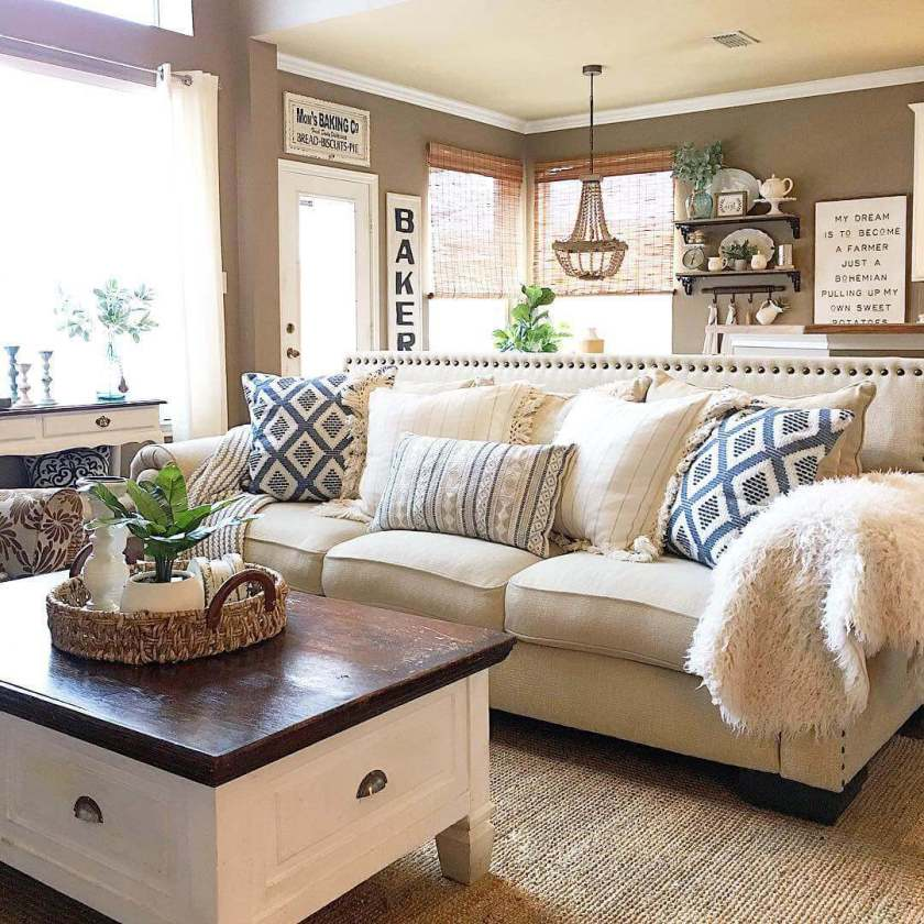 small living room decorating ideas with brown furniture