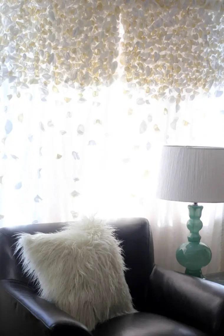 Flutter-style Sheer Livingroom curtain