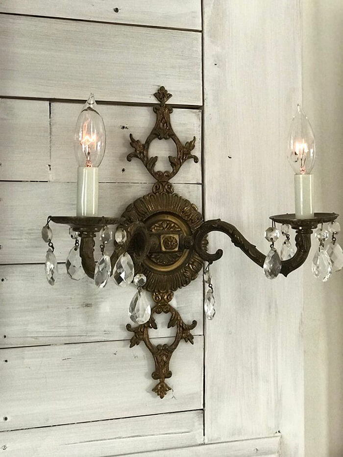 Antique Wall Lamp Holder