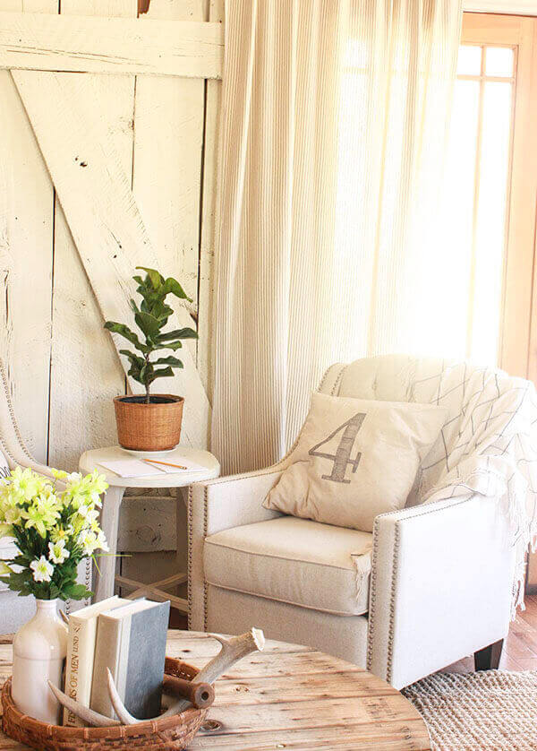 Sheer Curtain with Rustic Background