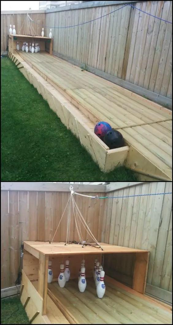 Backyard Bownling DIY Playground