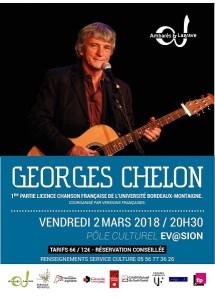 Georges Chelon (Chanson Française) @ Pôle Culturel Ev@sion   Ambarès-et-Lagrave   Nouvelle-Aquitaine   France