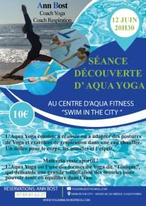 Séance découverte d'Aqua Yoga @ Piscine municipale    Le Bouscat   Nouvelle-Aquitaine   France