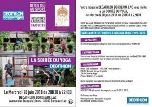 Soirée Yoga Décathlon Bordeaux Lac @ Magasin decathlon | Bordeaux | Nouvelle-Aquitaine | France