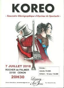 KOREO Rencontre d'Escrime de Spectacle @ Rocher de Palmer | Cenon | Nouvelle-Aquitaine | France