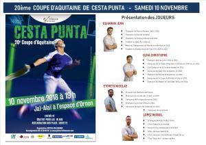 CESTA PUNTA 20ème COUPE D'AQUITAINE PROFESSIONNEL @ ESPACE D'ORNON JAI ALAI | Villenave-d'Ornon | Nouvelle-Aquitaine | France