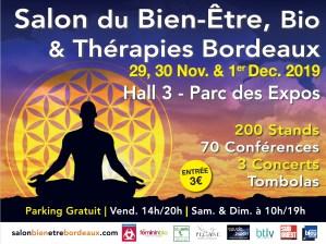 Salon du Bien Etre, Bio et Thérapies Bordeaux @ Parc des Expositions Hall 3 | Bordeaux | Nouvelle-Aquitaine | France