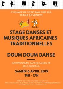 STAGE DOUM DOUM DANSE @ 13 rue de Verdun | Saint-Macaire | Nouvelle-Aquitaine | France