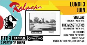 Relache #10 : Shellac // The Messthetics // Decibelles @ BT59 | Bègles | Nouvelle-Aquitaine | France