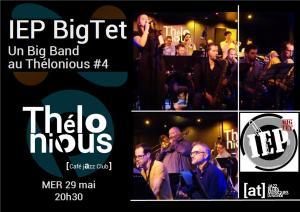 IEP BigTet #4 (Big Band) @ Thélonious Café Jazz Club | Bordeaux | Nouvelle-Aquitaine | France