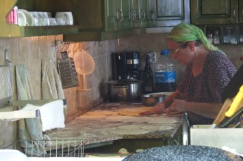 A turkish grandma took over the kitchen to prepare us the best börek (spinach-feta cheese pastry) I've ever had.