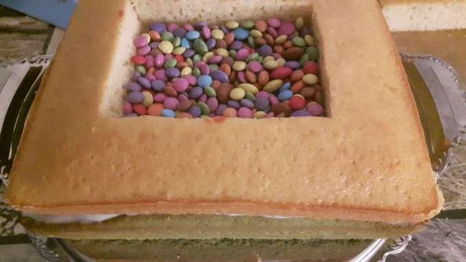 Smartieskuchen Kuchen mit Smarties