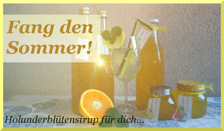 Fang den Sommer – Holunderblütensirup selbstgemacht