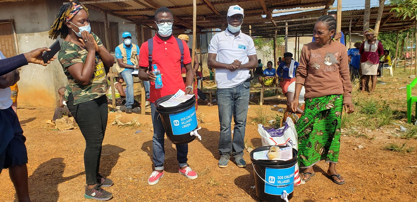 Providing care in a pandemic: SOS Children's Villages Liberia reaches out to young people and FS families in forty-two FS communities in and round the Liberian capital, Monrovia
