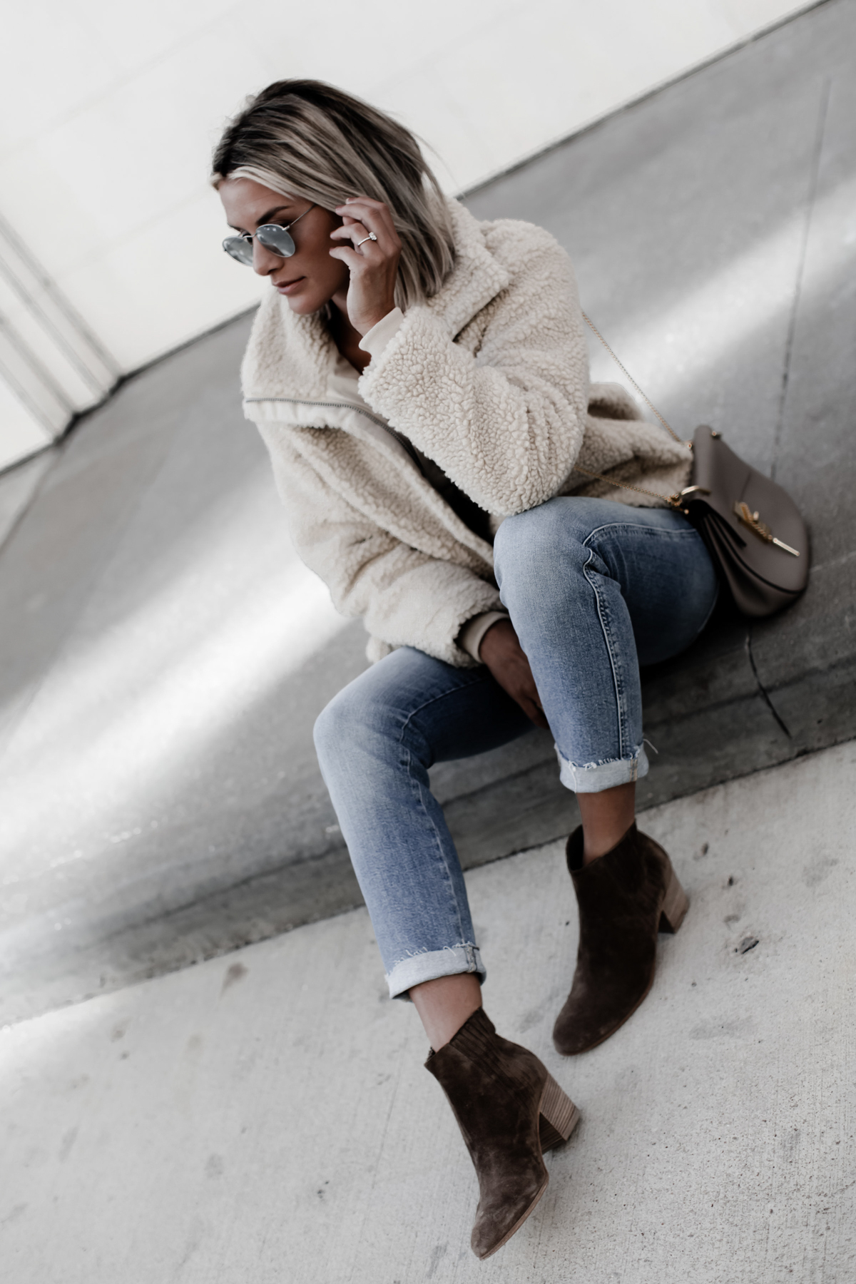 the perfect pile jacket for winter on blogger So Sage