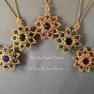Bahai Star Pendants