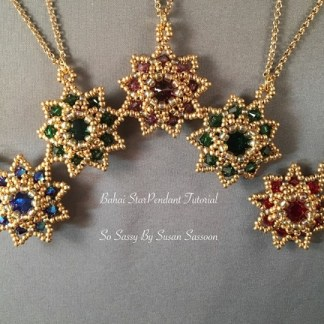 Bahai Star Pendants