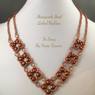 Honeycomb jewel links necklace
