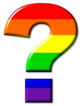 Rainbow flag gay question mark
