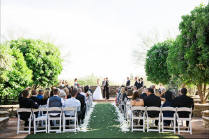 SoSco Flute & Guitar Duo performs for outdoor wedding in Scottsdale
