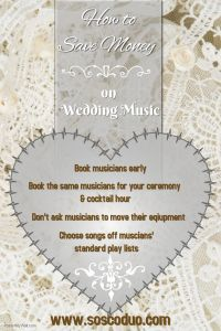 save money on wedding music